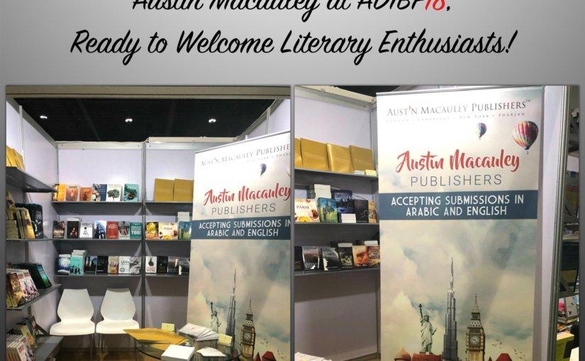 Austin Macauley with an aesthetically pleasing display of books at Abu Dhabi International Book Fair 2018.