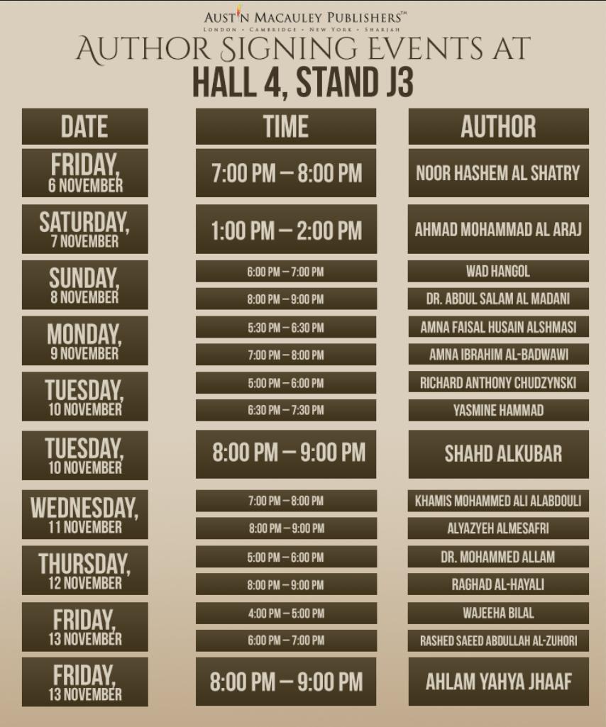 Austin-Macauley-SIBF-Book_signing-Schedule